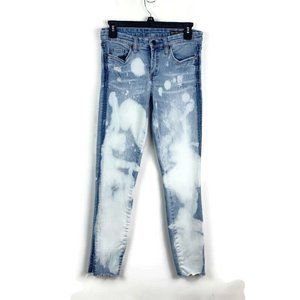 Blank NYC 27 Skinny Bleached Distressed Jeans